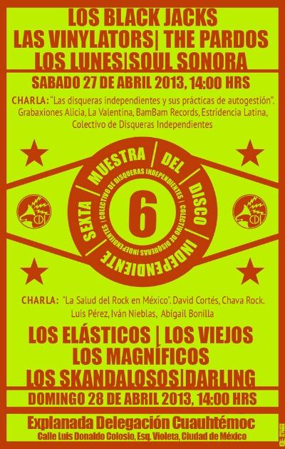 6ª Muestra del Disco Independiente (Sáb 27 y Dom 28 de Abril)