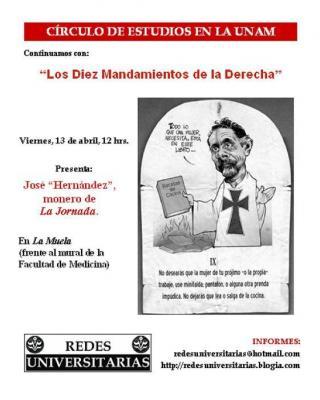 José Hernández en el Círculo de la UNAM