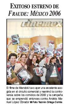 """Un éxito la presentación de la Película """"Fraude México 2006"""""""