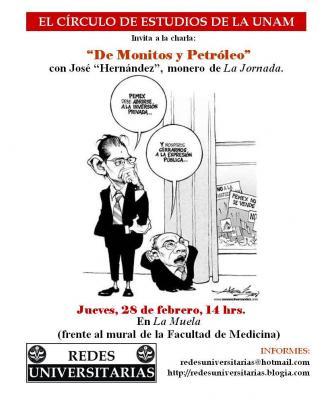 """José """"Hernández"""" caricaturista de La Jornada visita la UNAM"""