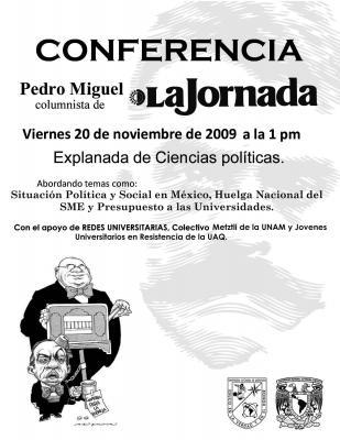 Charla en la Universidad Autónoma de Querétaro con Pedro Miguel