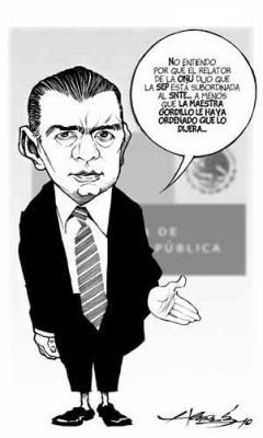 "Relación SEP-SNTE, ""no recomendable e inexplicable"", dice relator de la ONU"