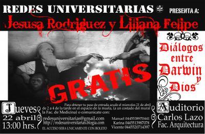 """Redes Universitaria presenta: """"Diálogos entre Darwin y Dios"""""""
