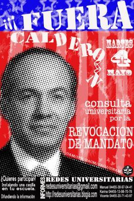Los estudiantes decimos ¡Fuera Calderón!