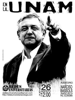 AMLO en la UNAM: Bienvenido!!!