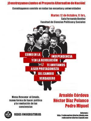 Foro con Arnaldo Córdova, Héctor Díaz Polanco y Pedro Miguel