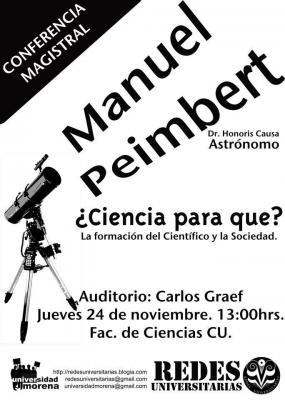 Manuel Peimbert en la Facultad de Ciencias, UNAM