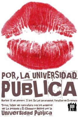 Un beso por la universidad pública, 14 de Febrero, UNAM