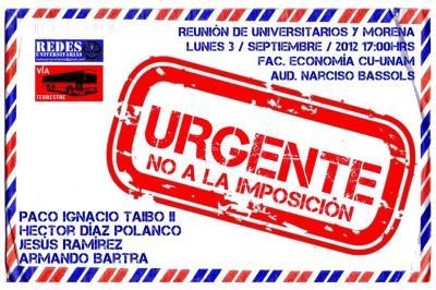 Reunión Urgente: No a la imposición!