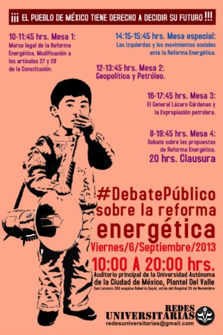 #DEBATEPÚBLICO SOBRE LA REFORMA ENERGÉTICA
