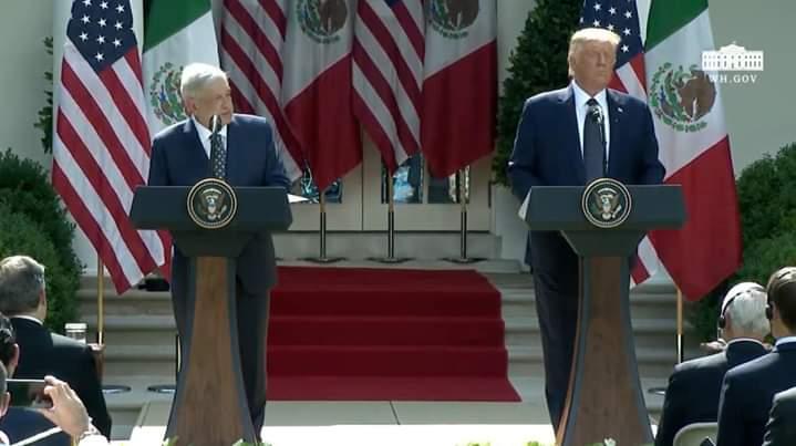 Discurso del Presidente Andrés Manuel López Obrador ante Trump